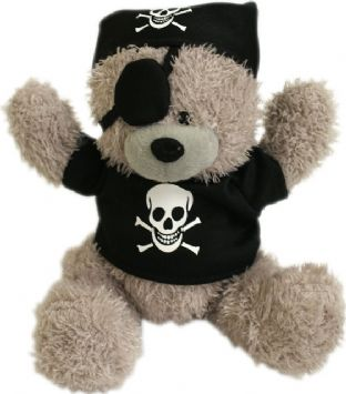 Pirate Teddy Bear (With Eye Patch)